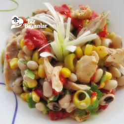 tavuklu borulce salatasi