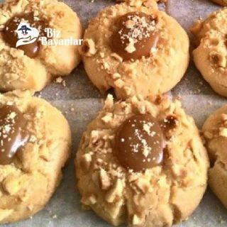 karamelli findikli kurabiye