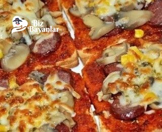 tost ekmegi ile pizza tarifi