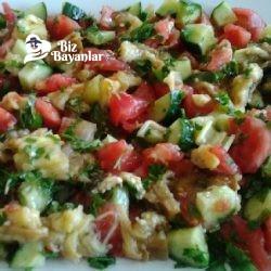domatesli patlıcan salatasi tarifi