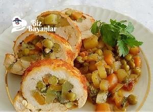 sebzeli tavuk dolması tarifi 9