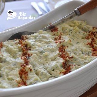 yogurtlu ezme patates salatasi