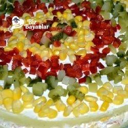 garniturlu patates salatasi