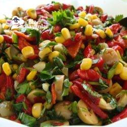 közlenmis kirmizi biber salatasi