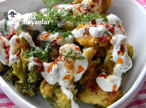 yogurtlu soslu brokoli kizartmasi