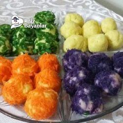 renkli patates toplari